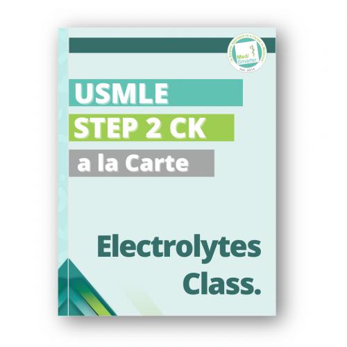 Medsmarter Step 2 CK Electrolytes Class