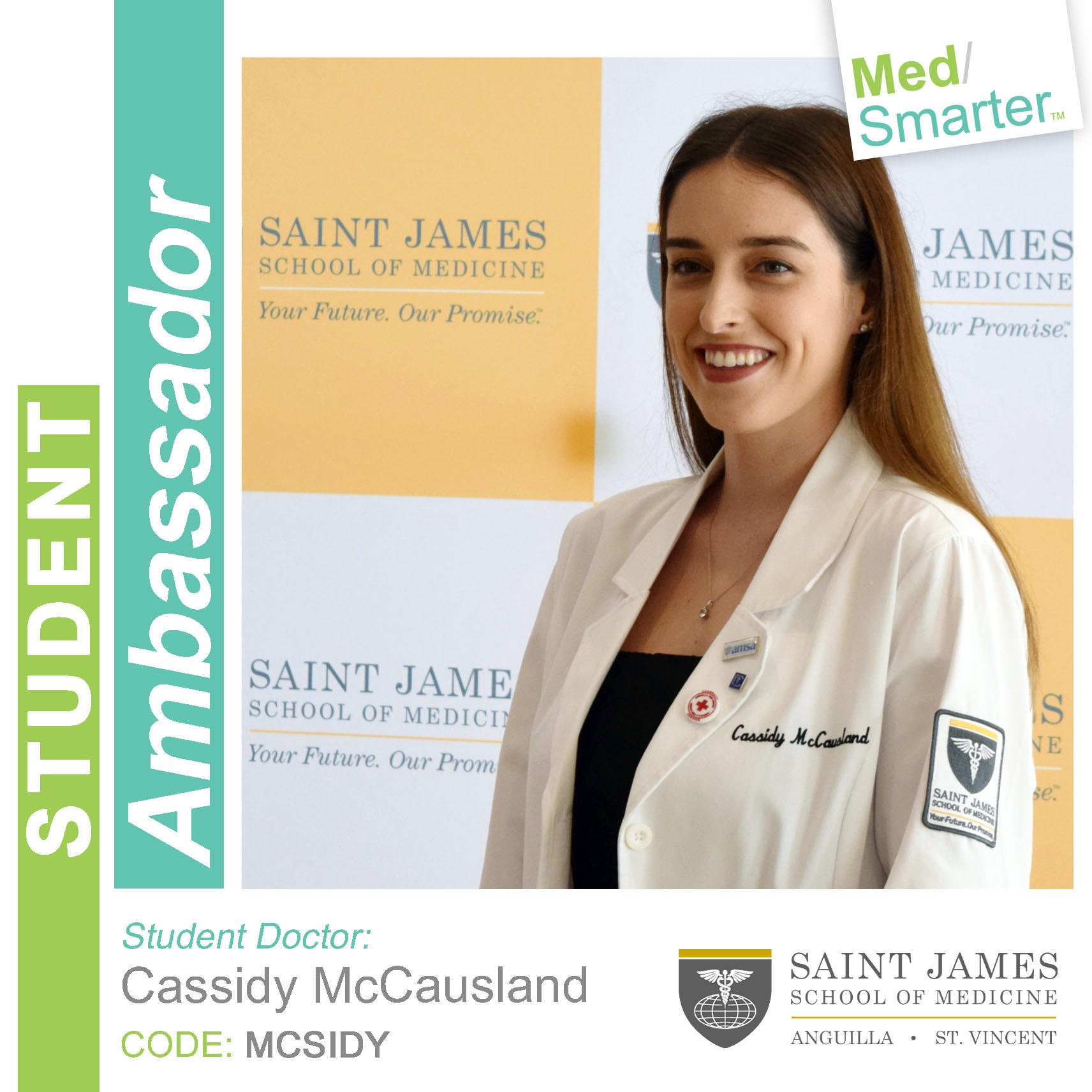 MedSmarter Student Ambassador Cassidy McCausland