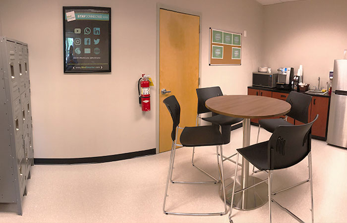 MedSmarter facilities break room & lockers