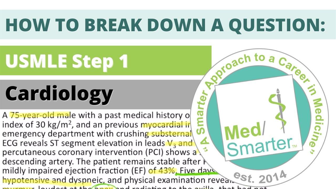 MedSmarter Question Break Down of the Week - Cardiology 04142021