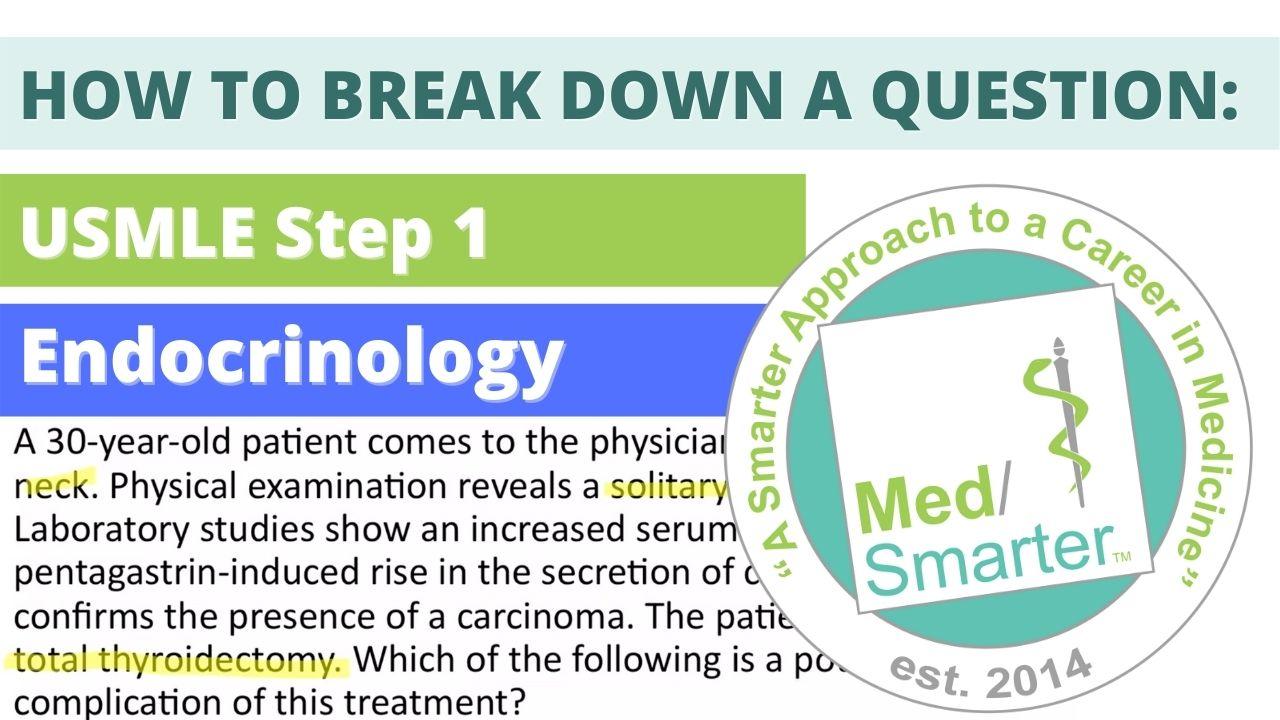 MedSmarter Question Break Down of the Week - Endocrinology 04212021
