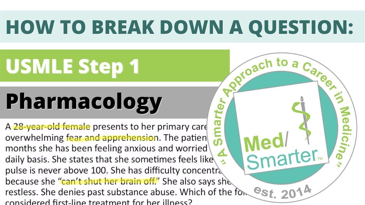 MedSmarter Question Break Down of the Week - Pharmacology