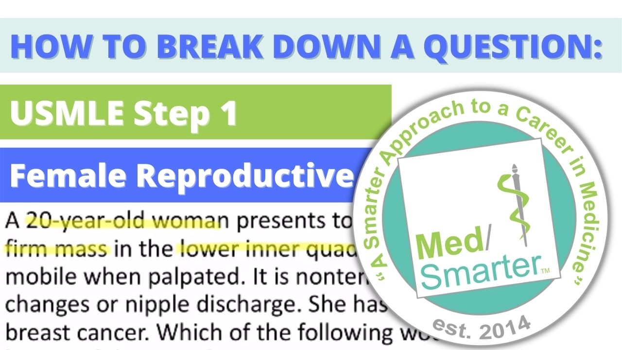 MedSmarter: Question Break Down of the Week - Reproductive - 20 Year Old Female