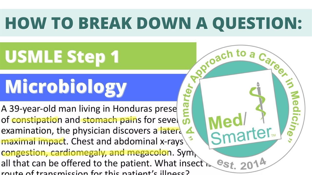 MedSmarter: Question Break Down of the Week - Microbiology 39 Male Honduras
