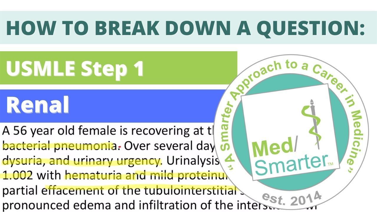 MedSmarter: Question Break Down of the Week - Renal - 56 Year Old Female Hospital