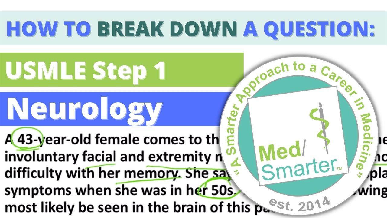 MedSmarter Question Break Down of the Week - Neurology - 07/14/2021