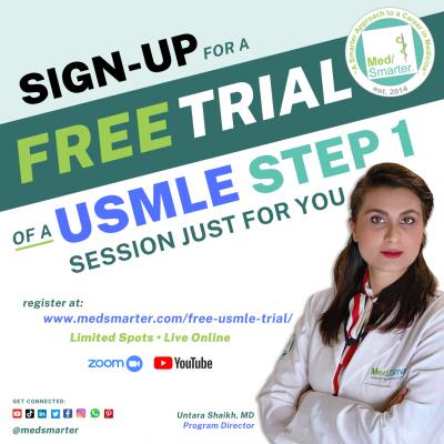 MedSmarter FREE USMLE Step 1 Trial Class Sign Up