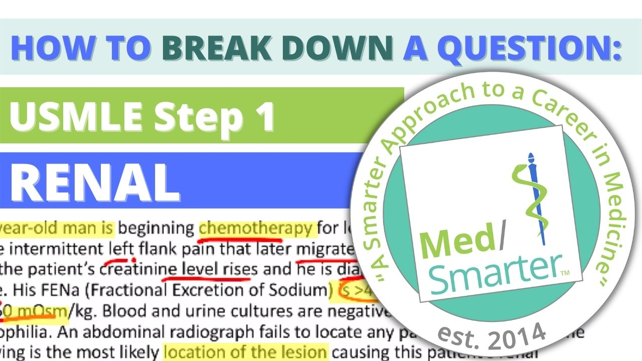 MedSmarter: Question Break Down of the Week - Renal - 25 Year Old Male Hospital Beginning Chemotherapy